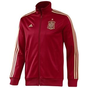 NWOT Adidas Spain Track Jacket - Red/Gold size L